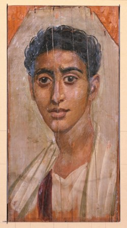 WALTERS: Egyptian: Mummy Portrait of a Man 75