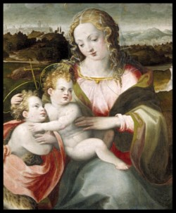 WALTERS: Ridolfo Ghirlandaio (Italian, 1483-1561): Madonna and Child with the Young Saint John the Baptist 1503