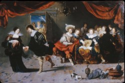 WALTERS: Simon de Vos (Flemish, 1603-1676): Merrymakers in an Inn 1630