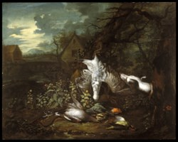WALTERS: Jan Baptiste Govaerts (Flemish, active ca.1713-1746): Still Life with Dead Game Birds 1720