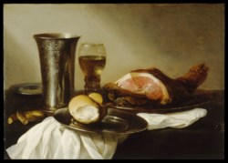 WALTERS: Circle of Pieter Claesz (Dutch, 1596/1597 7-1660): Breakfast Piece 1640