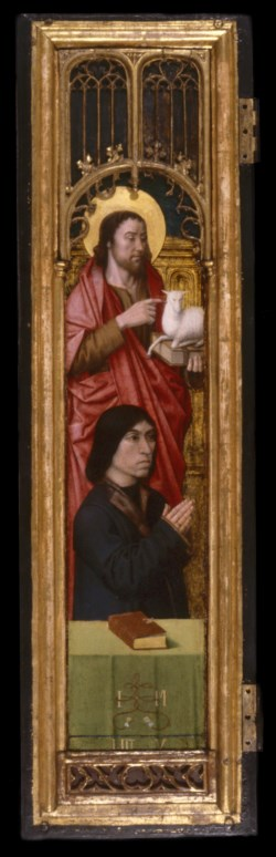 WALTERS: Netherlandish: Triptych with Lamentation Over Christ with Donors and Saints 1478
