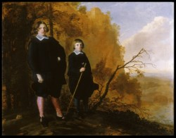 WALTERS: Herman Mijnert Donker (Dutch, ca. 1620-1656): Two Boys in a Landscape 1650