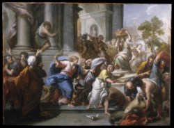 WALTERS: Giuseppe Passeri (Italian, 1654-1714): The Cleansing of the Temple 1700