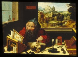 WALTERS: Pieter Coecke van Aelst, the elder (Flemish, 1502-1550): Saint Jerome in His Study 1505