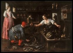 WALTERS: Dirck de Vries (Netherlandish, active ca. 1592): Kitchen Interior 1588