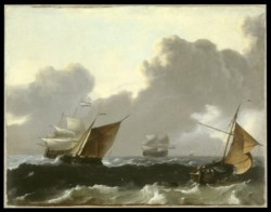WALTERS: Ludolf Backhuysen I (Dutch, 1630-1708): Storm At Sea 1660
