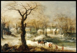 WALTERS: Joos de Momper the younger (Flemish, 1564-1635): Winter Landscape 1620