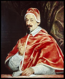 WALTERS: Workshop of Giovanni Battista Gaulli (Italian, 1639-1709): Portrait of Pope Alexander VII (Fabio Chigi) 1642