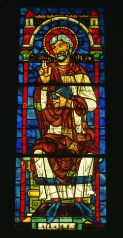 WALTERS: French: Stained Glass Window with an Apostle or Ancestor of Christ 1188