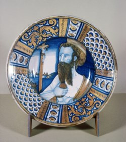 WALTERS: Venetian: Plate with Saint Jerome Doing Penance 1525