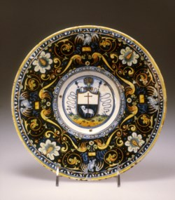 WALTERS: Venetian: Plate with Shield Showing the Lamb of God 1463