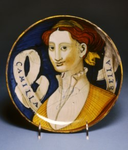 "WALTERS: Venetian: Dish with the ""Beautiful Camilla"" 1518"