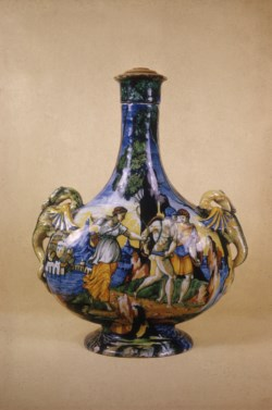 WALTERS: Venetian: Flask with Scenes of the Caledonian Boar Hunt 1528