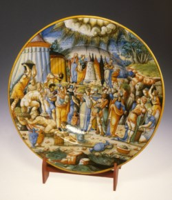 WALTERS: Venetian (?): Ewer Basin with the Gathering of Manna 1563
