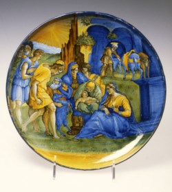 WALTERS: Venetian: Dish with the Adoration of the Shepherds 1518
