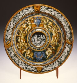 WALTERS: Patanazzi family (Italian, active 16th-17th centuries): Ewer Basin with Leda and the Swan 1568