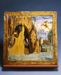 WALTERS: Venetian: Plaque with Saint Francis Receiving the Stigmata 1518