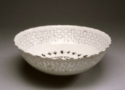 WALTERS: Iranian: Gombroon Ware Bowl with Diamond Pattern 1650