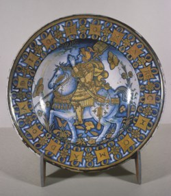WALTERS: Workshop of Giacomo Mancini (Italian, active ca. 1540-1560): DIsh with Constantine the Great 1518