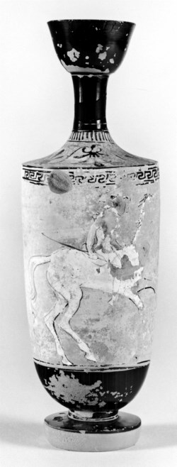 WALTERS: Greek: Lekythos Depciting Mounted Amazon -482