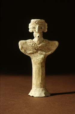 WALTERS: Syrian: Bearded Figurine with Necklace -2400