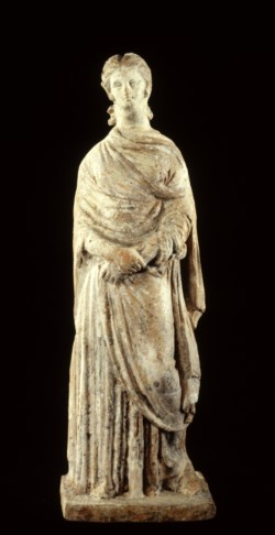 WALTERS: Greek: Standing Draped Woman with Clasped Hands -312
