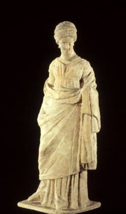 WALTERS: Greek: Standing Maiden with Kerchief -300