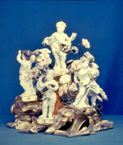 WALTERS: Meissen Porcelain Manufactory (German, active 1710-present): Putti Personifying the Arts and Sciences 1745