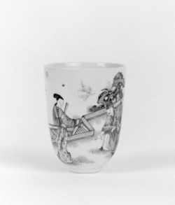 WALTERS: Chinese: Cup with Scholars in a Garden 1700