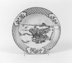 WALTERS: Chinese: Dish with Landscape 1715
