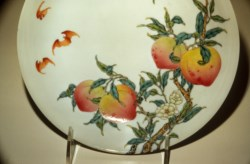 WALTERS: Chinese: Dish with Peaches and Bats 1736