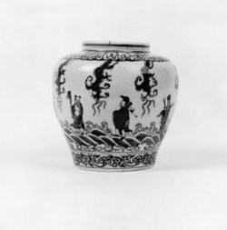 WALTERS: Chinese: Jar with Immortals 1573