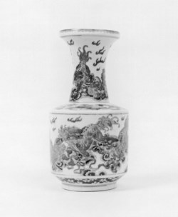 WALTERS: Chinese: Vase with Lions and Tasseled Balls 1800