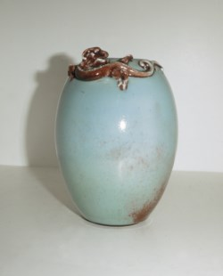 WALTERS: Chinese: Ovoid Vase with Chün-Type Glaze 1722