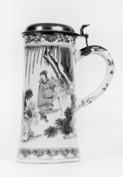 WALTERS: Chinese: Tankard with Dutch Silver Lid 1630