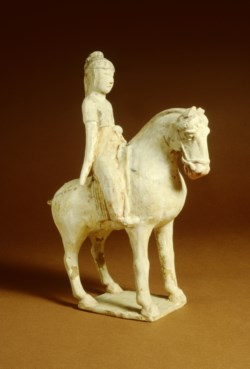 WALTERS: Chinese: Pair of Sculptures: Women on Horseback 600
