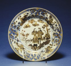 WALTERS: Chinese: Plate with Dutch Couple 1700