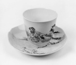 WALTERS: Chinese: Cup and Saucer with Shepherd 1720