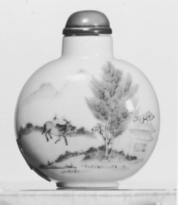 WALTERS: Chinese: Snuff Bottle with Ox Herder Returning Home 1644