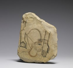 WALTERS: Egyptian: Ostracon with a Royal Head -1292