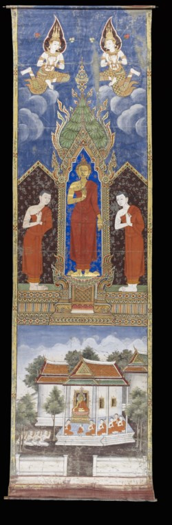 WALTERS: Thai: The Buddha with his disciples Sariputta and Moggalana 1880