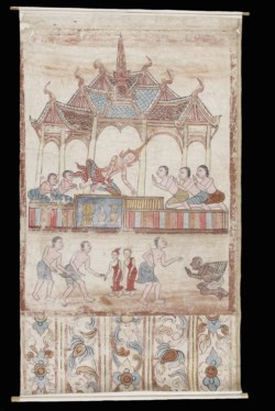 WALTERS: Thai: Vessantara Jataka, Chapter 11: Jujaka and the Royal Children are Brought to King Sanjaya 1701