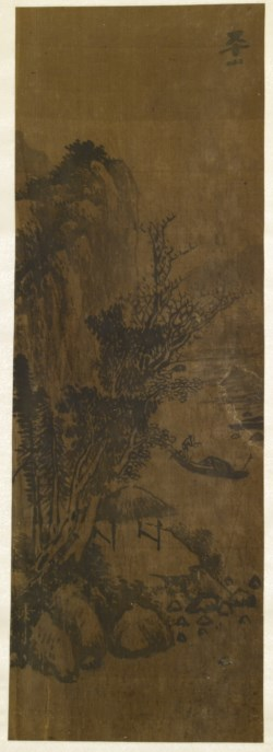 WALTERS: Chinese: River Landscape with Boatman 1601