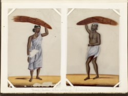 WALTERS: Indian (?): Leaf from Bound Collection of 20 Miniatures Depicting Village Life 1870