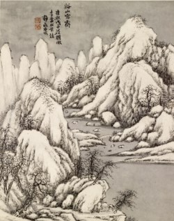 WALTERS: Ch'ing-yen T'ang Tai: Snow Piled in Gorges and Peaks 1708