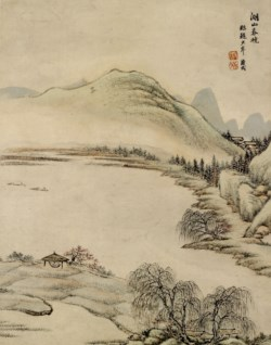 WALTERS: Ch'ing-yen T'ang Tai: Spring Dawn Over Lakes and Mountains 1748