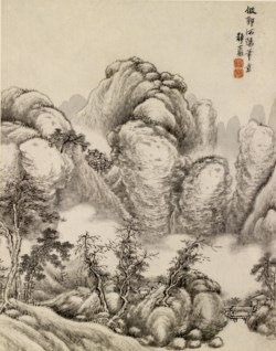 WALTERS: Ch'ing-yen T'ang Tai: Landscape 1749