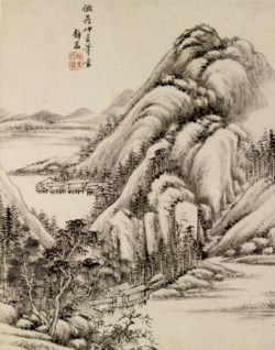 WALTERS: Ch'ing-yen T'ang Tai: Landscape 1748