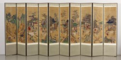 WALTERS: Korean: Ten-panel Folding Screen with Scenes of Filial Piety 1701